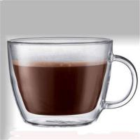 Quality Glass double wall coffee cup for sale
