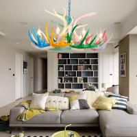 Quality Multicolor resin antler chandelier for indoor home Lighting Fixtures (WH-AC-15) for sale