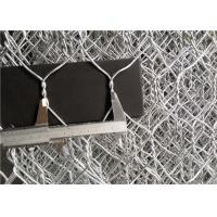 Quality Architecture Stone Cage Wire Mesh Anti Corrosive Galfan Coated Steel for sale