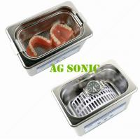Quality 800ml Dental Sonic Bath Cleaner With SUS Basket , Ultrasonic Teeth Cleaning Machine for sale