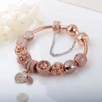 Quality 925 silver jewlery 1:1   925 sterling silver bracelet  ROSE GOLD SERIES IN 2018 for sale