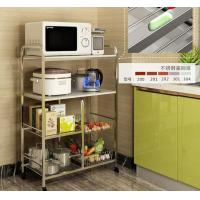 Quality Kitchen Stainless Steel Storage Racks On Wheels Adjustable With 4-6 Tier for sale