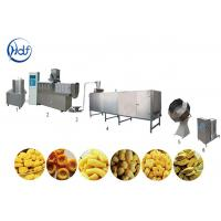 China Fried Snack Food Processing Machinery , Puff Corn Ball Snack Food Machine on sale