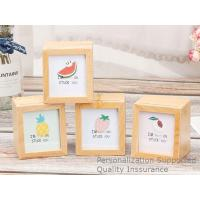 Quality Well Crafted Innovative Beech Wood Memorial Gifts Shadow Box Photo Frame, Laser Engrave Logo for sale