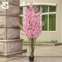 China UVG CHR053 pink cherry blossom bonsai tree with artificial flowers for party decoration on sale