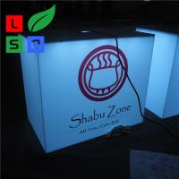 Quality Outdoor Using Cube Light Box Sign Front Store Hanging 3D Led Aluminum for sale
