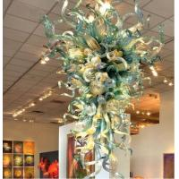 Quality Art Deco Blown stained Glass Chandelier for Project Home Lights (WH-BG-06) for sale