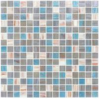 Quality Grey blue blend 20mm glass mosaic mix patter decoration for sale