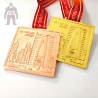 Golden  Silver Metal  Square Medal   For Trophies   Stainless Steel Material