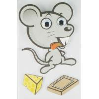 Quality animal Layered Stickers For children / custom printed Stickers cartoon for sale