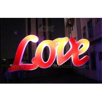 Wedding Decorative Love Inflatable Letters PVC Air Tight Lighting Letters