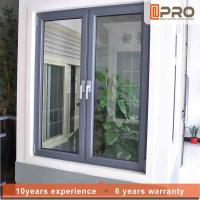 Quality Vertical Opening Pattern Aluminum Casement Windows With Security System for sale