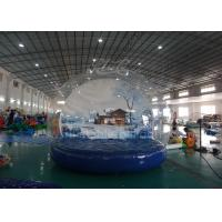 Outdoor Inflatable Advertising Balloons , 4 M Christmas Inflatable Snow Globe