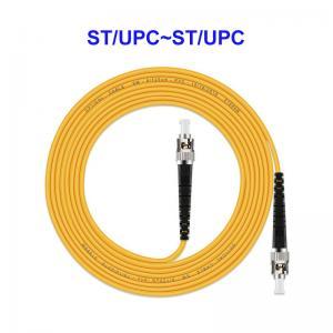 Quality ST UPC ST UPC Optical Jumper Cord , 1 Core Single Mode Fiber Jumpers for sale