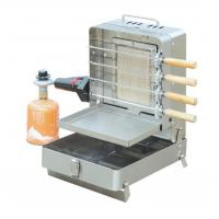 Quality Mini Folding Stainless Shawarma Kebab Machine With Skewers And Rotary Motor for sale