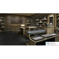 China Green natural food store fixture by sell glass showcase counter and wood storage cabinet on sale