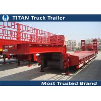 Quality Titan 3 axle 60 tons Payload semi low bed trailers for heavy equipment transportation for sale