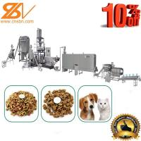 Quality SLG 65-III Dry Dog Food Making Machine Twin Screw Extruder 500-600 Kg/h for sale