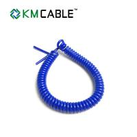 Quality Curly Waterproof 7 Core Trailer Cable  2.7m - 3.5 Meters For Heavy Duty Agriculture for sale