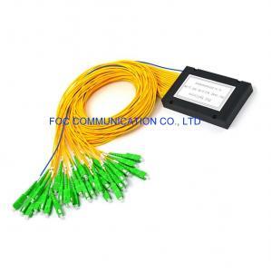 Quality SC APC 1×32 FTTX Optical Fiber Splitter ABS Module Type Low PDL for sale