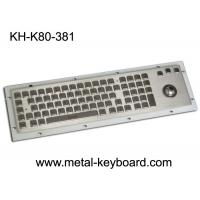Buy cheap 80 Keys IP65 Rated Metal Industrial Keyboard With Trackball Mouse And Numeric from wholesalers