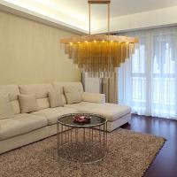 Quality Modern pull chain chandelier Gold Color For Project Lighting (WH-CC-12) for sale