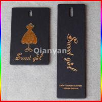 Quality screen printing hangtags for private brand cloth for sale