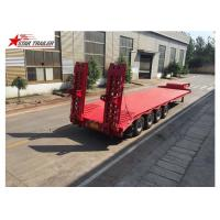 China Long Haul Freight Transport Extendable Semi Trailer With Q345B Steel Structure on sale