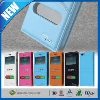 China Leather Fashion iPhone 6 Protective Cases Dual Window Pu Skin Folio wholesale