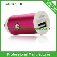 5V 1A Aluminum single usb car charger for iphone samsung