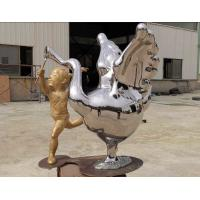 China Contemporary Outdoor Metal Statues Public Decorative Stainless Steel Animal Sculpture on sale