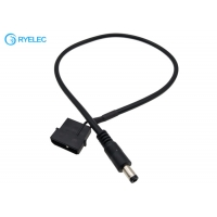 Quality 2 Core Cable From 12v Male Molex Psu Connector To 2.1mm Diameter DC Barrel Connector for sale