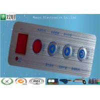 Buy Waterproof Membrane Switch Touch Panel Overlay Red Window Silver Contact Pad at wholesale prices
