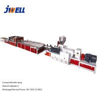 Quality Wood Plastic Indoor Decorative Materials Extrusion Line 600-1200 Conical Twin Screw for sale