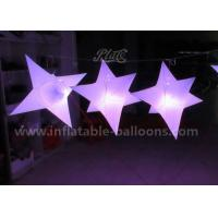 Quality 1M PVC Airtight Inflatable Hanging Stars Balloons / Helium Lighting Balloon for sale