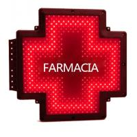 Quality Red Color LED Pharmacy Cross Signs Farmacia Display P20 Pixel Double Faces for sale
