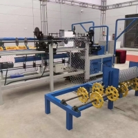 China 9.5kw 2.0m 1.4mm Fully Automatic Chain Link Fence Machine on sale