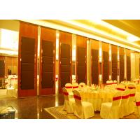 Quality Hanging Office  Aluminum Sliding Doors , Banquet Hall Partition Wall , Ceiling Track for sale