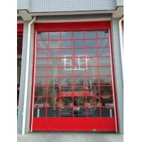 Quality Glass Aluminum Sectional Door Adjusted Height  Wind Resistance Class 3 For Fire Station for sale