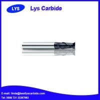 Quality 2-flute flattened end mills with straight shank and long cutting edge for sale
