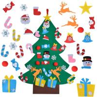 China Educational DIY Felt Christmas Party Crafts Home Door Decoration Gifts For Kids on sale