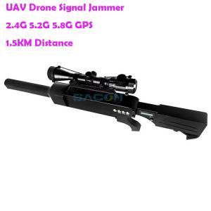 Quality DJI Phantom 65w GPS 5.2G 5.8G Gun Drone Signal Jammer for sale