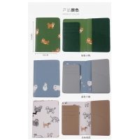 Quality Cartoon PU leather storage bag card set Small fresh animal and plant document holder for sale