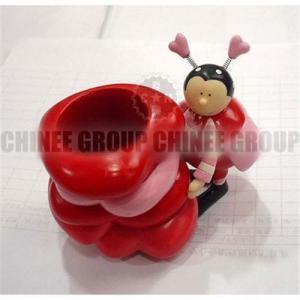 China Polyresin beetle pen holder on sale
