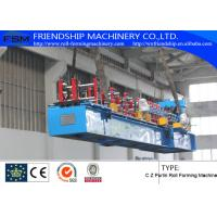 Quality 1.5-2.5mm Thickness And Durable C Z Purlin Roll Forming Machines With 18 Forming Stations for sale