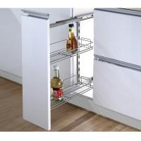 Quality Kitchen Side Pull Out Cabinet Organizer , Pull Out Metal Basket In Iron for sale