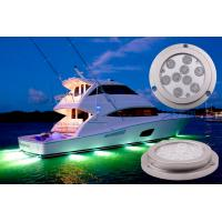 Quality 9 * 3W Bridgelux 3 in1 LED Boat Light , Blutooth Control 27W LED Marine Lights for sale