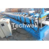 Quality 5 Ton Capacity Garage Door Roll Forming Machine With Wood Grain Embossing Machine for sale