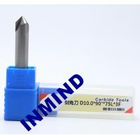 Quality Carbide Chamfer Tool Milling Machine End Mills , 8mm Diameter 90 Degree Milling Cutter for sale