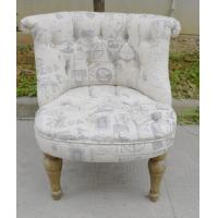 American design wood frame fabric sofa chair for living room and cafe